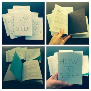 How to sleep zine